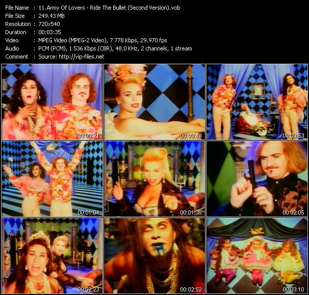 Army Of Lovers Ride The Bullet (Second Version)