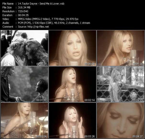 Taylor Dayne - Send Me A Lover