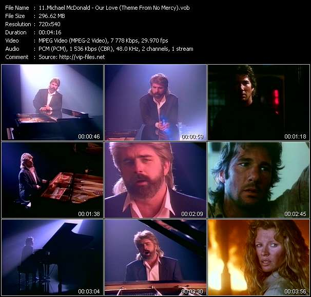 """Michael McDonald Our Love (Theme From """"No Mercy"""")"""