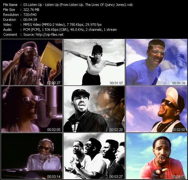 "Listen Up (Big Daddy Kane, Siedah Garrett, Tevin Campbell, Al B. Sure!, Karyn White, James Ingram, Ice-T, The Winans, Ray Charles, El DeBarge And Grandmaster Melle Mel) - Listen Up (From ""Listen Up: The Lives Of Quincy Jones"")"