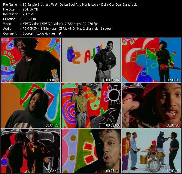 Jungle Brothers Feat. De La Soul And Monie Love - Doin' Our Own Dang