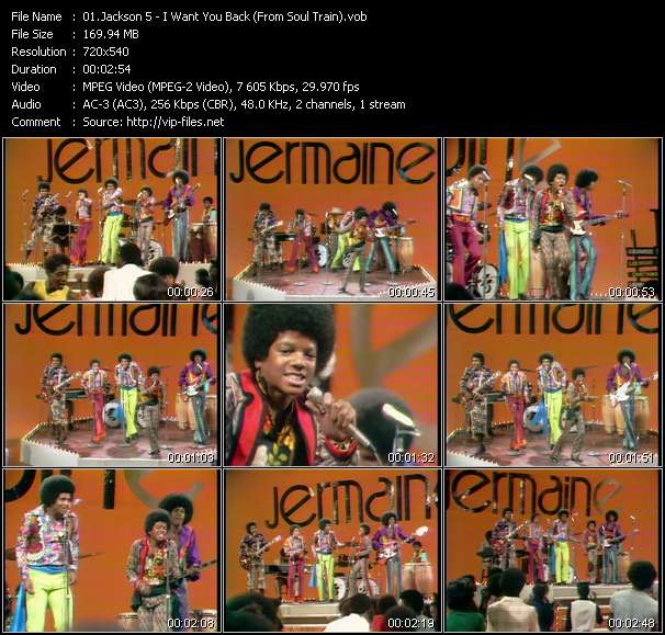 """Michael Jackson And The Jacksons (Jackson 5) - I Want You Back (From """"Soul Train"""")"""