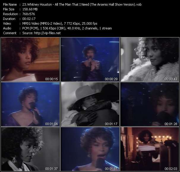Whitney Houston - All The Man That I Need (The Arsenio Hall Show Version)