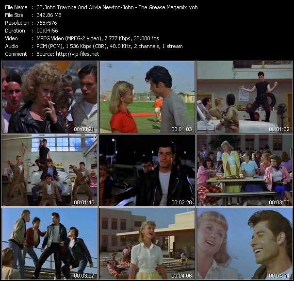John Travolta And Olivia Newton-John - The Grease Megamix