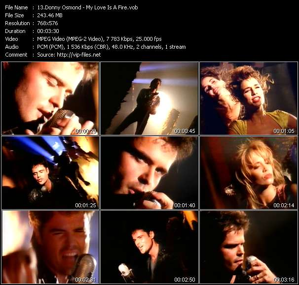 Donny Osmond - My Love Is A Fire