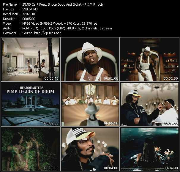 50 Cent Feat. Snoop Dogg And G-Unit - P.I.M.P.