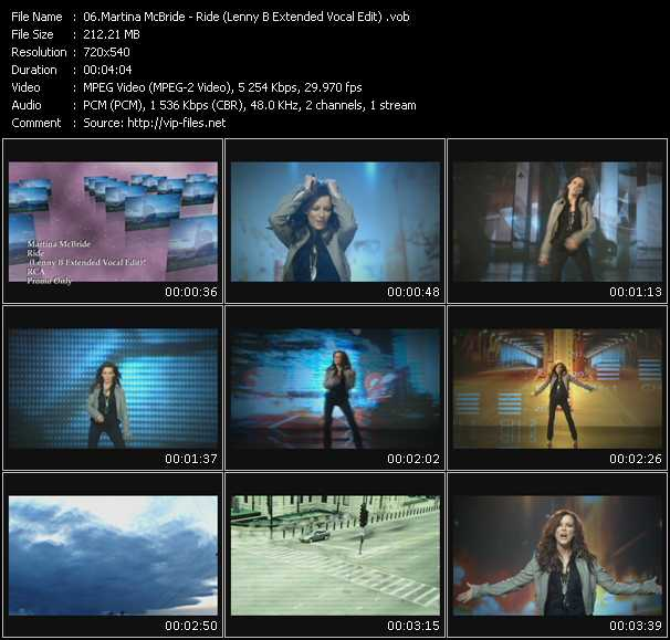 Martina McBride - Ride (Lenny B Extended Vocal Edit)