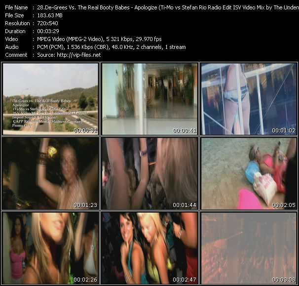 De-Grees Vs. The Real Booty Babes - Apologize (Ti-Mo vs Stefan Rio Radio Edit ISV Video Mix by The Undeniable-D.Gauss)