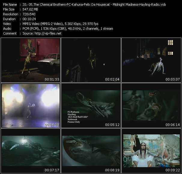 Chemical Brothers - FC-Kahuna - Felix Da Housecat - Midnight Madness - Hayling (ILS Red Bull Edit) - Radio (Infadels Remix)