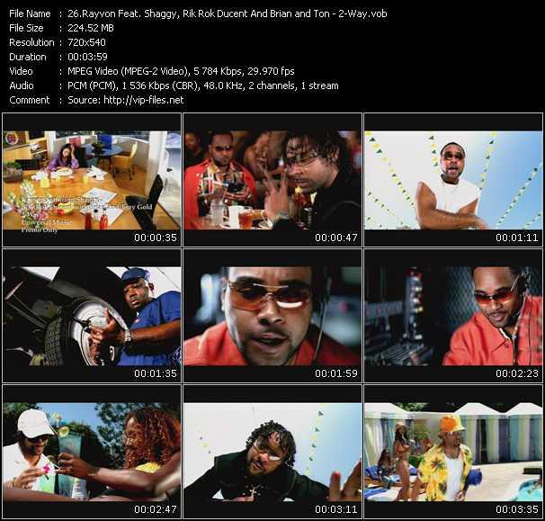 Rayvon Feat. Shaggy, Ricardo Rik Rok Ducent And Brian And Tony Gold - 2-Way