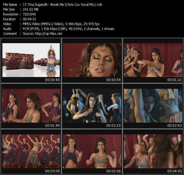 Tina Sugandh - Break Me (Chris Cox Vocal Mix)