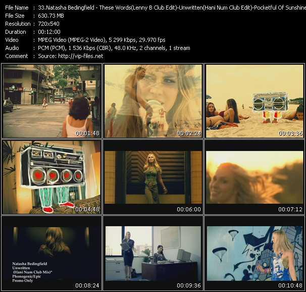 Natasha Bedingfield - These Words (Lenny B Club Edit) - Unwritten (Hani Num Club Edit) - Pocketful Of Sunshine (Stonebridge Club)