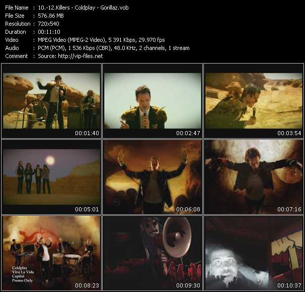 Killers - Coldplay - Gorillaz - Human - Viva La Vida - Feel Good, Inc.