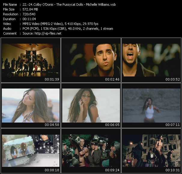 Colby O'Donis - Pussycat Dolls - Michelle Williams - Don't Turn Back - I Hate This Part - We Break The Dawn