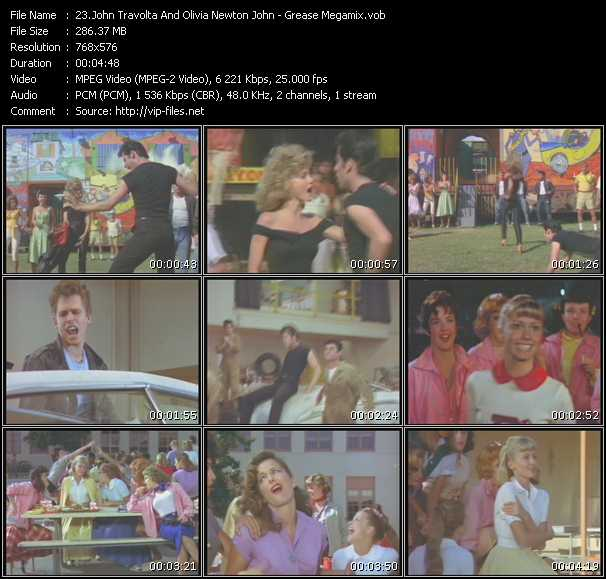 John Travolta And Olivia Newton-John - Grease Megamix