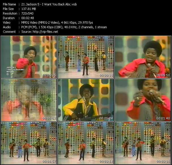 Michael Jackson And The Jacksons (Jackson 5) - I Want You Back - Abc