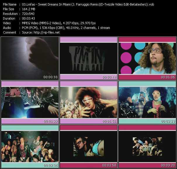 Lmfao - Sweet Dreams In Miami (J. Farruggio Remix) (D-Twizzle Video Edit-Betatesterz)
