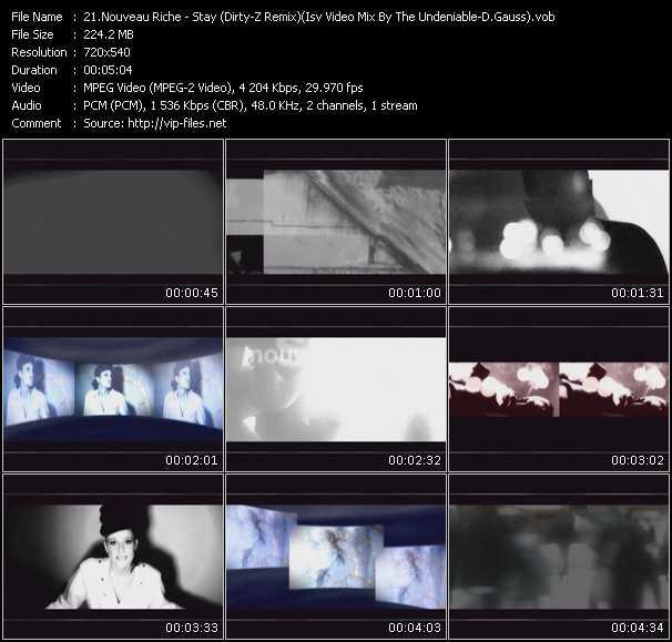 Nouveau Riche - Stay (Dirty-Z Remix) (ISV Video Mix By The Undeniable-D.Gauss)