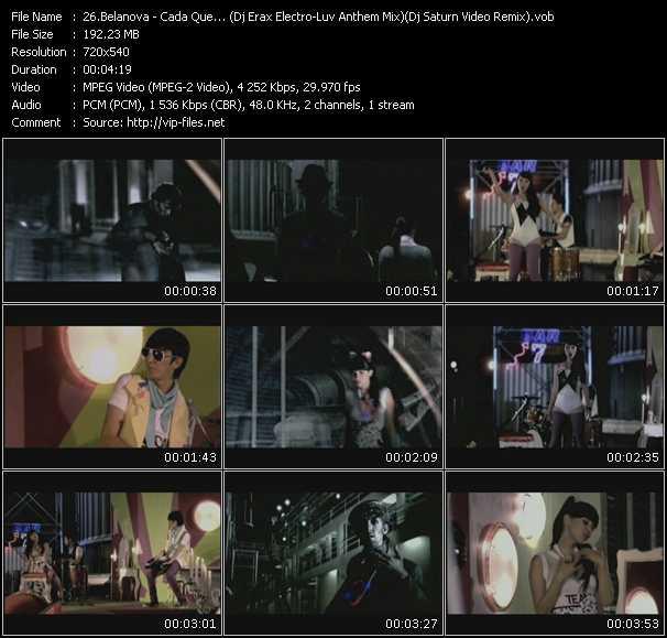Belanova - Cada Que... (Dj Erax Electro-Luv Anthem Mix) (Dj Saturn Video Remix)