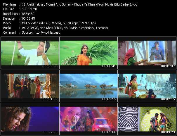 Akriti Kakkar, Monali And Soham - Khuda Ya Khair (From Movie Billu Barber)