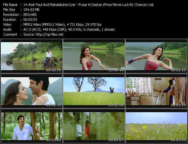 Amit Paul And Mahalakshmi Iyer - Pyaar Ki Dastan (From Movie Luck By Chance)
