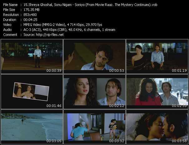 Shreya Ghoshal, Sonu Nigam - Soniyo (From Movie Raaz. The Mystery Continues)