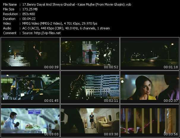 Benny Dayal And Shreya Ghoshal - Kaise Mujhe (From Movie Ghajini)
