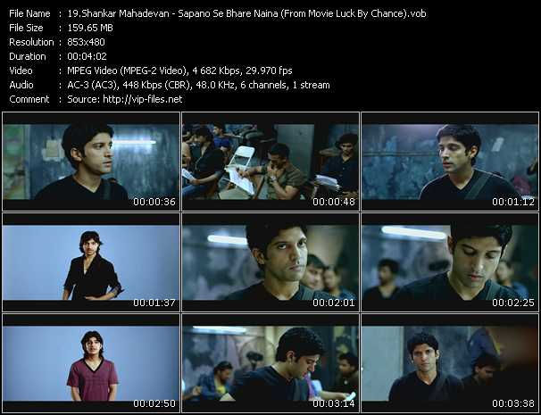 Shankar Mahadevan - Sapano Se Bhare Naina (From Movie Luck By Chance)