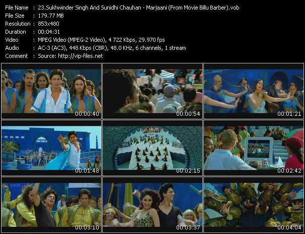 Sukhwinder Singh And Sunidhi Chauhan - Marjaani (From Movie Billu Barber)
