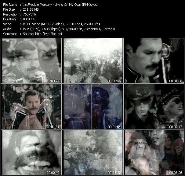 Freddie Mercury - Living On My Own (RMX)