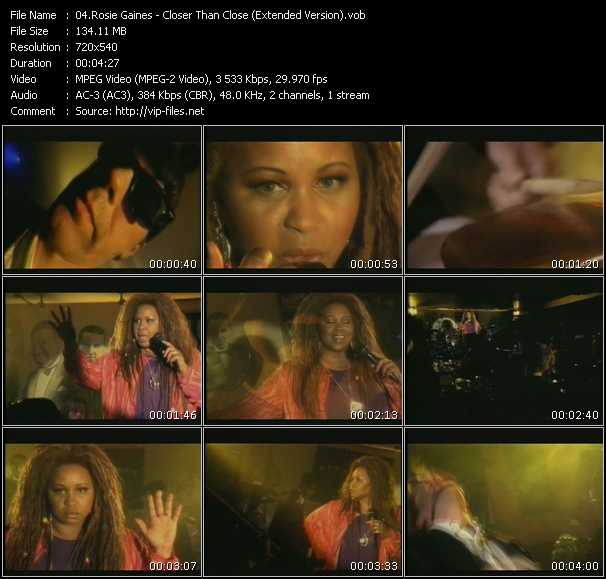 Rosie Gaines - Closer Than Close (Extended Version)