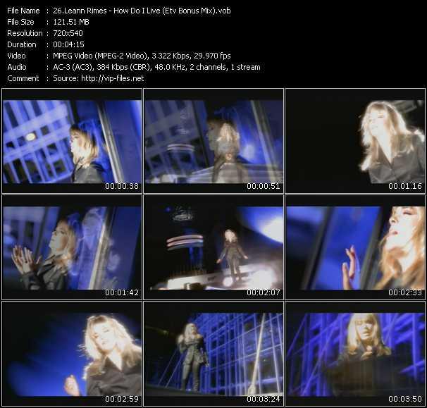 LeAnn Rimes - How Do I Live (ETV Bonus Mix)