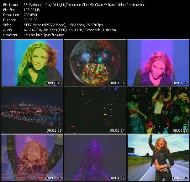 Madonna - Ray Of Light (Calderone Club Mix) (Dan-O-Rama Video Remix)