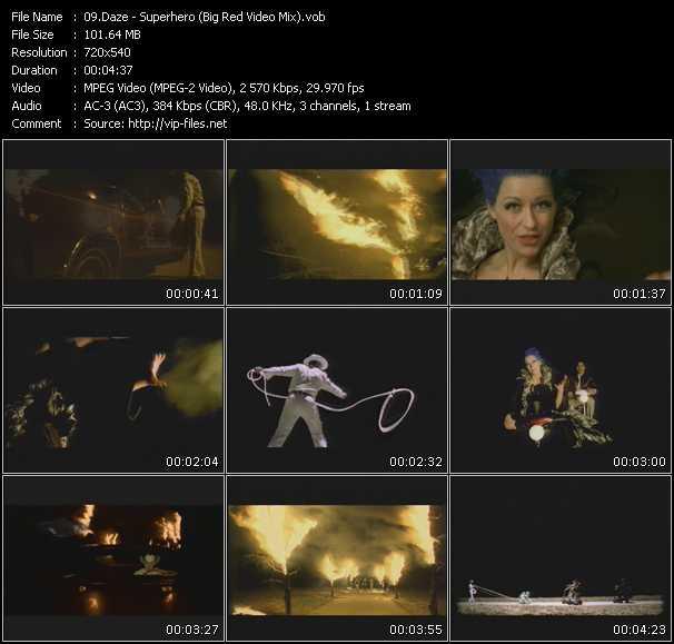 Daze - Superhero (Big Red Video Mix)