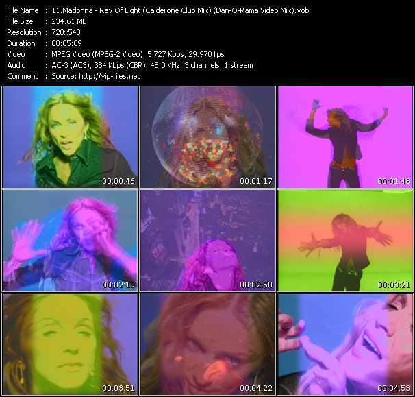 Madonna - Ray Of Light (Calderone Club Mix) (Dan-O-Rama Video Mix)
