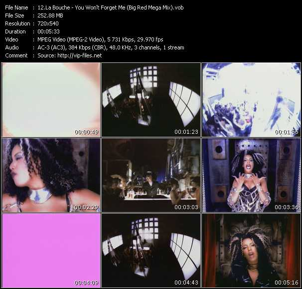 La Bouche - You Won't Forget Me (Big Red Mega Mix)