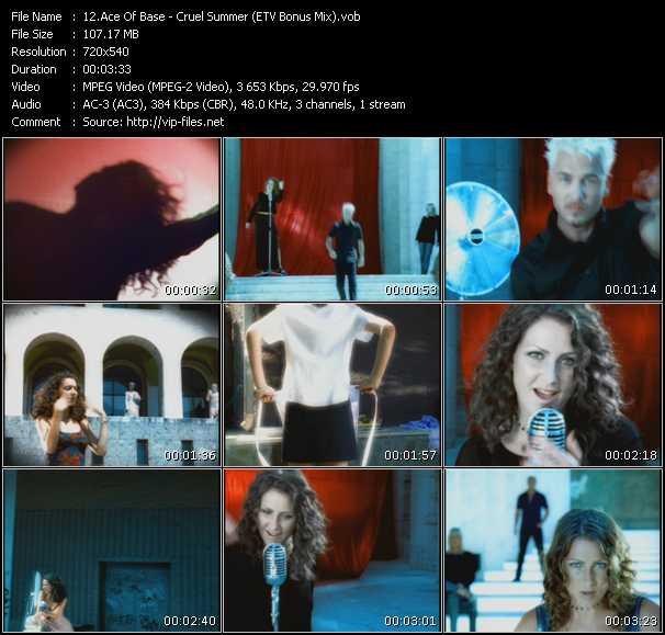 Ace Of Base - Cruel Summer (ETV Bonus Mix)