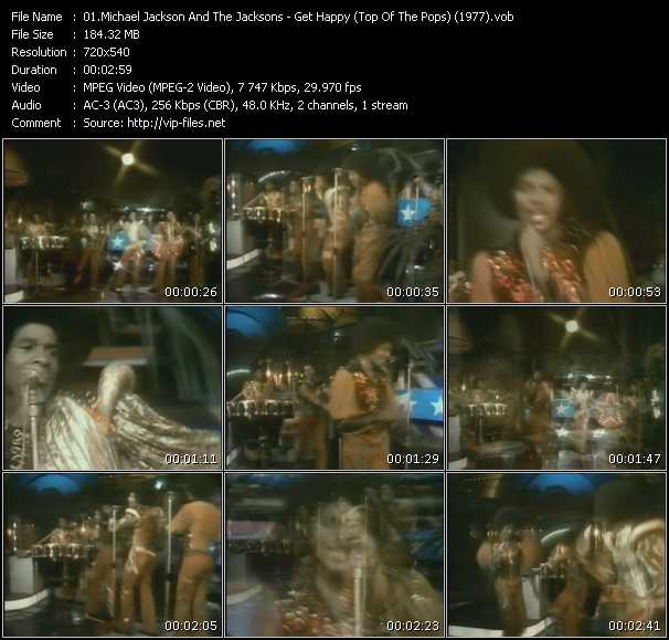 Michael Jackson And The Jacksons (Jackson 5) - Get Happy (Top Of The Pops) (1977)