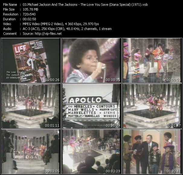 Michael Jackson And The Jacksons (Jackson 5) - The Love You Save (Diana Special) (1971)