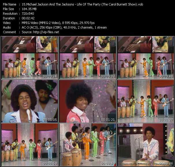 Michael Jackson And The Jacksons (Jackson 5) - Life Of The Party (The Carol Burnett Show)