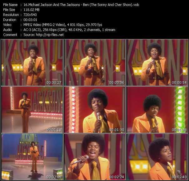 Michael Jackson And The Jacksons (Jackson 5) - Ben (The Sonny And Cher Show)