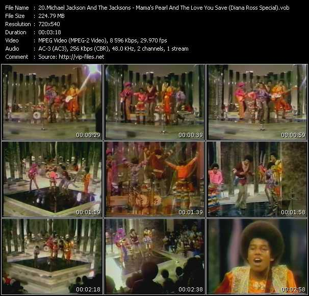 Michael Jackson And The Jacksons (Jackson 5) - Mama's Pearl And The Love You Save (Diana Ross Special)