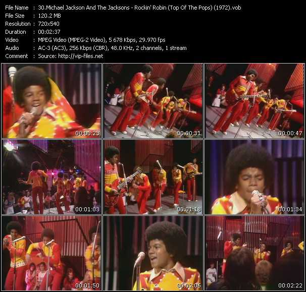 Michael Jackson And The Jacksons (Jackson 5) - Rockin' Robin (From Top Of The Pops) (1972)