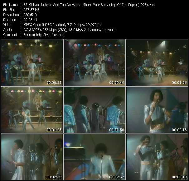 Michael Jackson And The Jacksons (Jackson 5) - Shake Your Body (From Top Of The Pops) (1978)