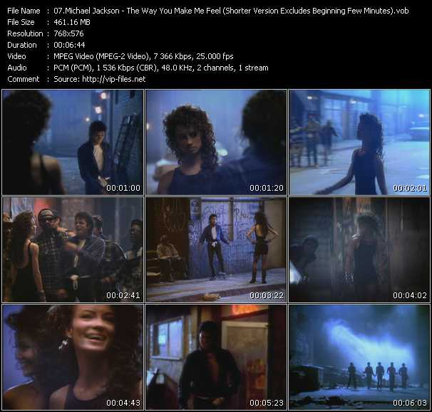 Michael Jackson - The Way You Make Me Feel (Shorter Version Excludes Beginning Few Minutes)