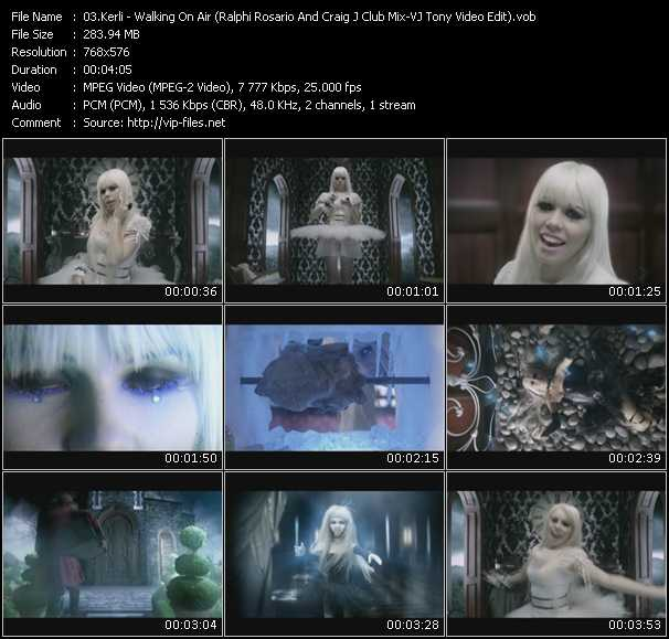 Kerli - Walking On Air (Ralphi Rosario And Craig J Club Mix-VJ Tony Video Edit)