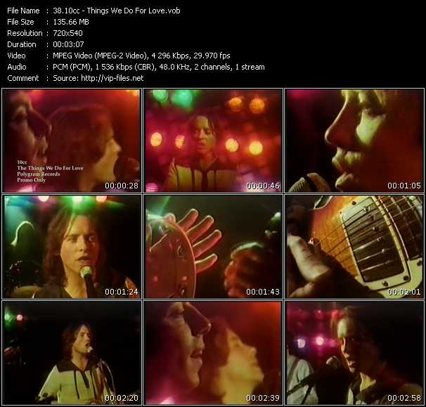 10cc - Things We Do For Love