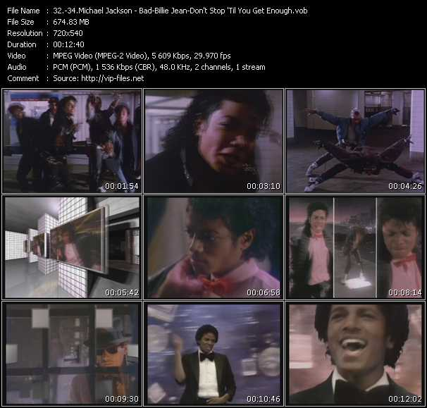 Michael Jackson - Bad - Billie Jean - Don't Stop 'Til You Get Enough