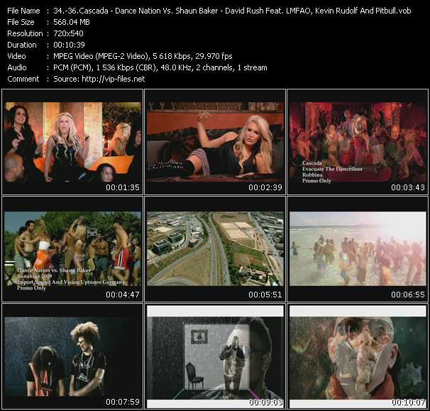 Cascada - Dance Nation Vs. Shaun Baker - David Rush Feat. Lmfao, Kevin Rudolf And Pitbull - Evacuate The Dancefloor - Sunshine 2009 - Shooting Star