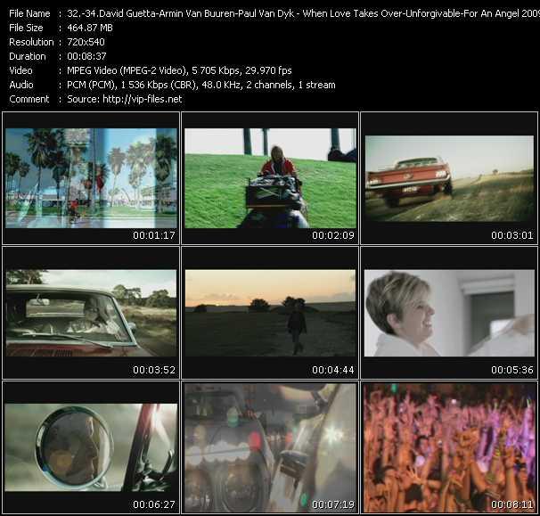 David Guetta Feat. Kelly Rowland - Armin Van Buuren Feat. Jaren - Paul Van Dyk - When Love Takes Over - Unforgivable (Extended Edit) - For An Angel 2009